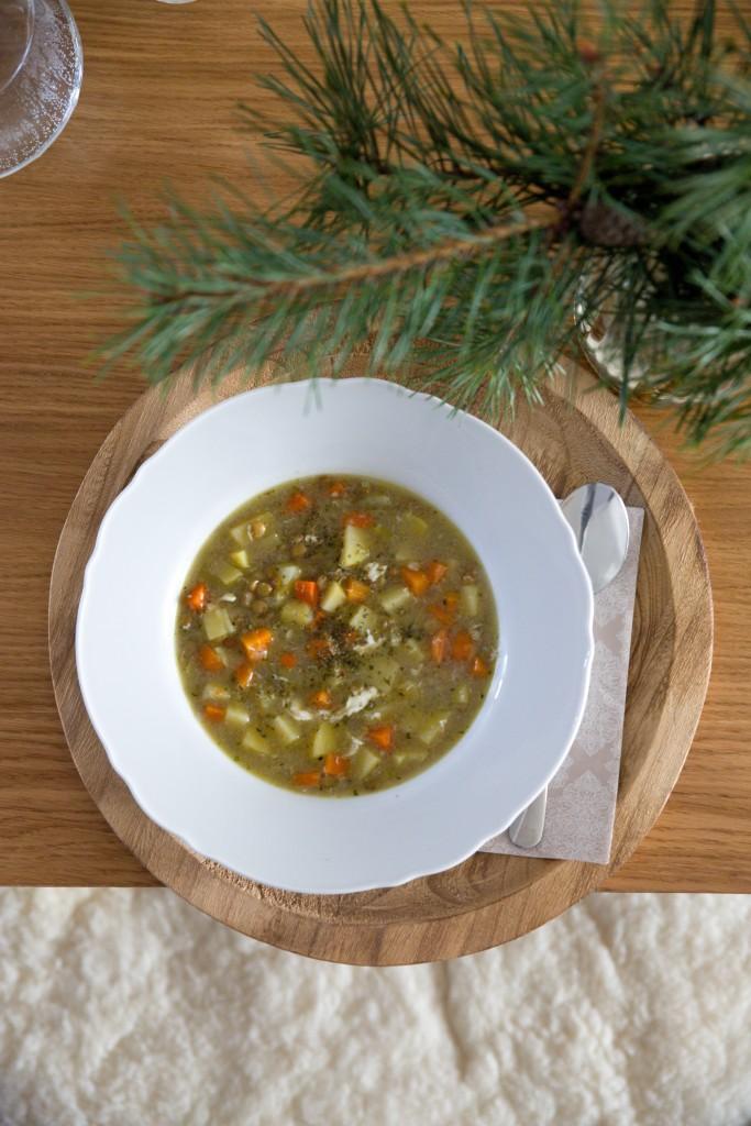 recept na čočkovou polévku