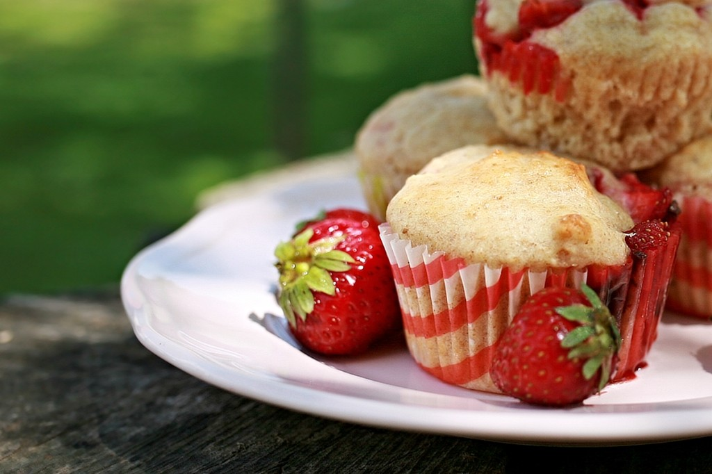 jahody-muffiny