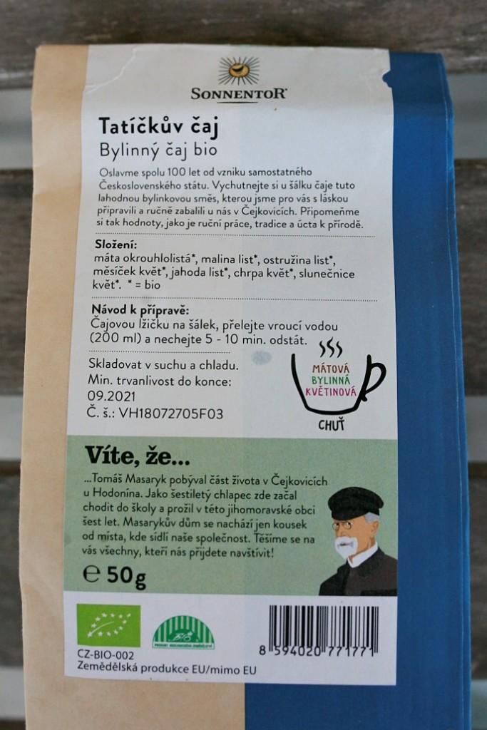 složení čaje