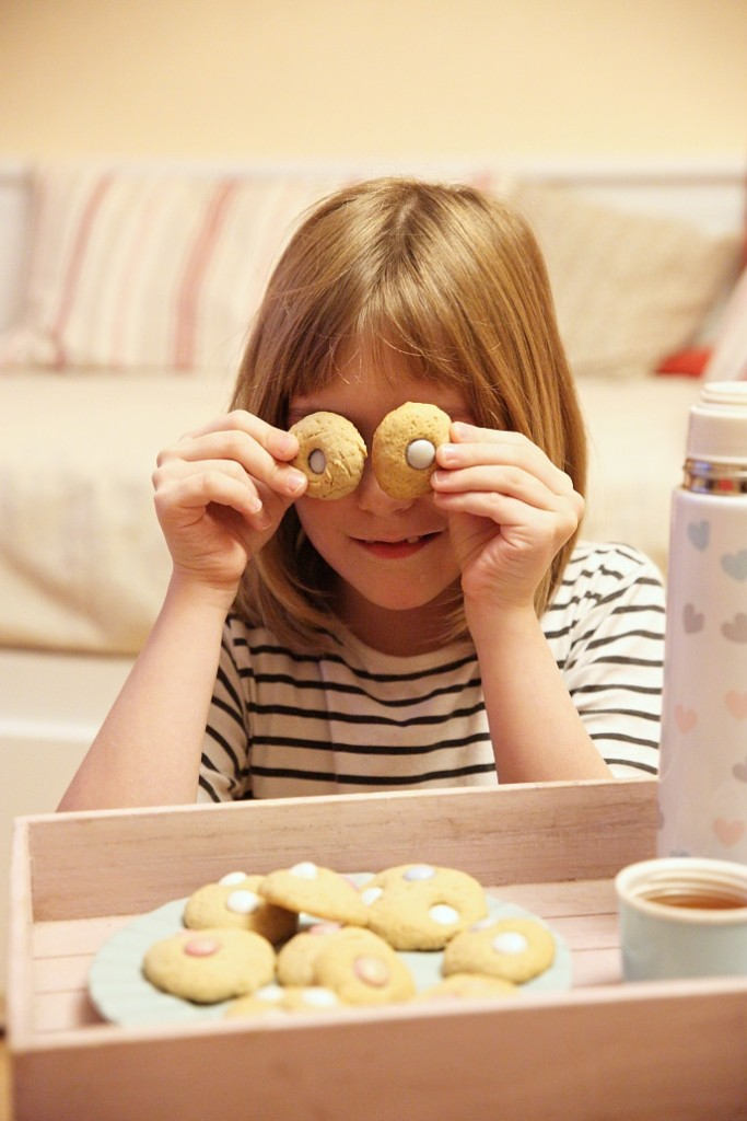 sušenky s lentilkami