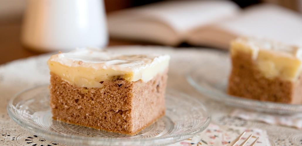 kakaový koláč s pudinkem