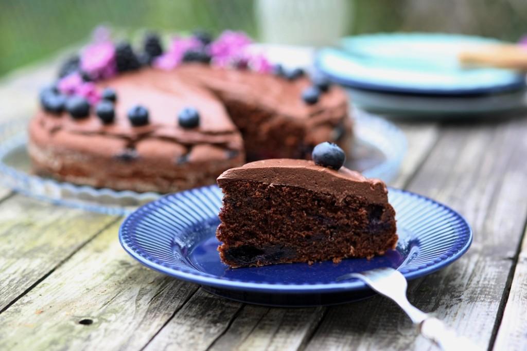 ovocný dort s čokoládou